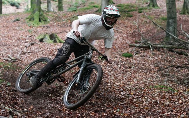 Jasper Penton on the BTR Pinner during filming for Trail Tool Adventures