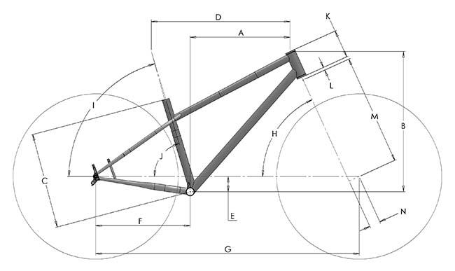 BTR Roamer Geometry Diagram